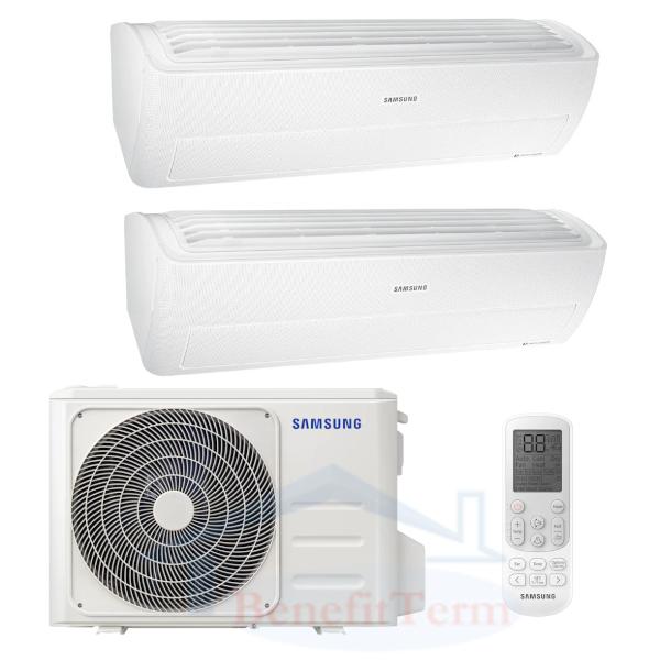 Samsung Wind-Free Standard multisplit 2x1 (2,8 kW a 3,5 kW) včetně montáže