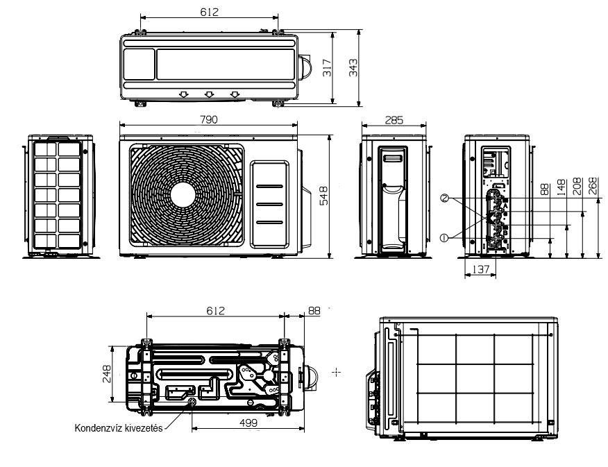 Samsung venkovní multisplitová jednotka 6.8 kW, R32, AJ068RCJ3EG/EU