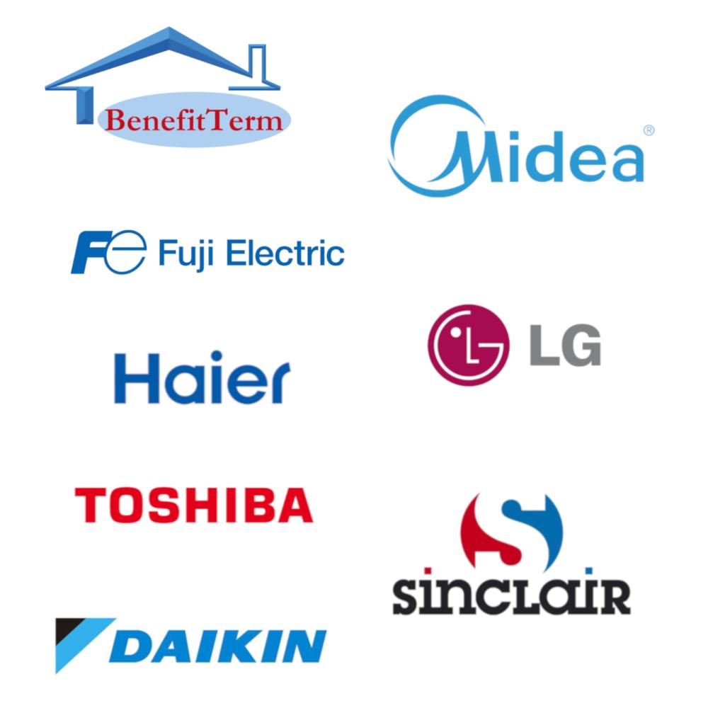 Klimatizace Midea, Klimatizace Samsung,Klimatizace Toshiba,Klimatizace Daikin,Klimatizace LG,Klimatizace Haier,Klimatizace Sinclair,Klimatizace Fuji Electric