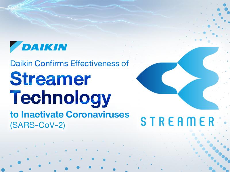 Technologie Streamer společnosti Daikin deaktivuje více než 99,9 % nového koronaviru (SARS-CoV-2)