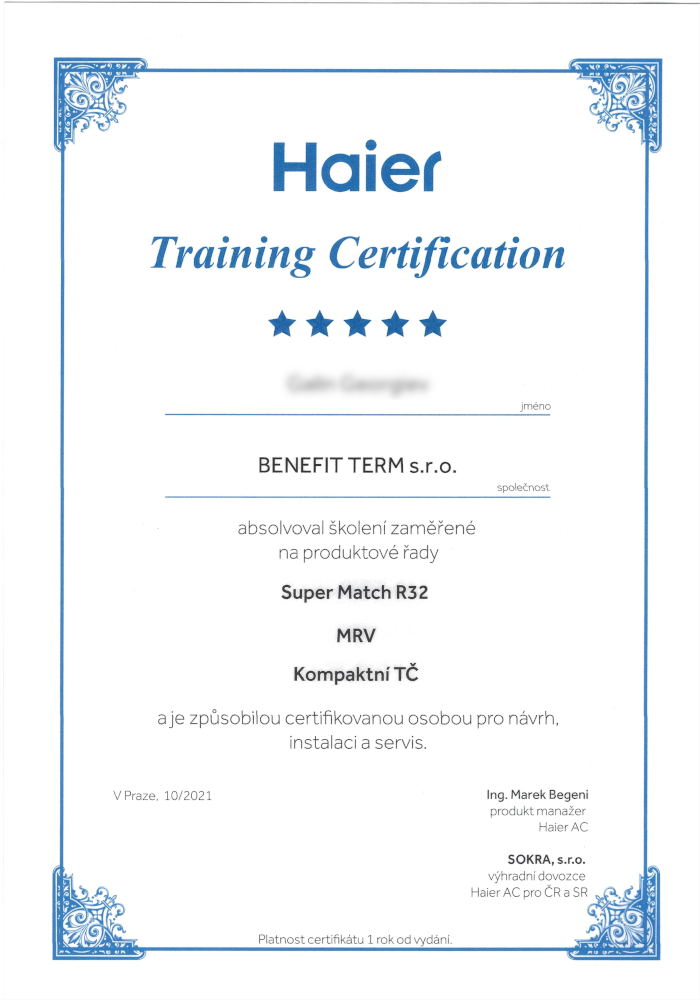 Haier_certifikat_2021